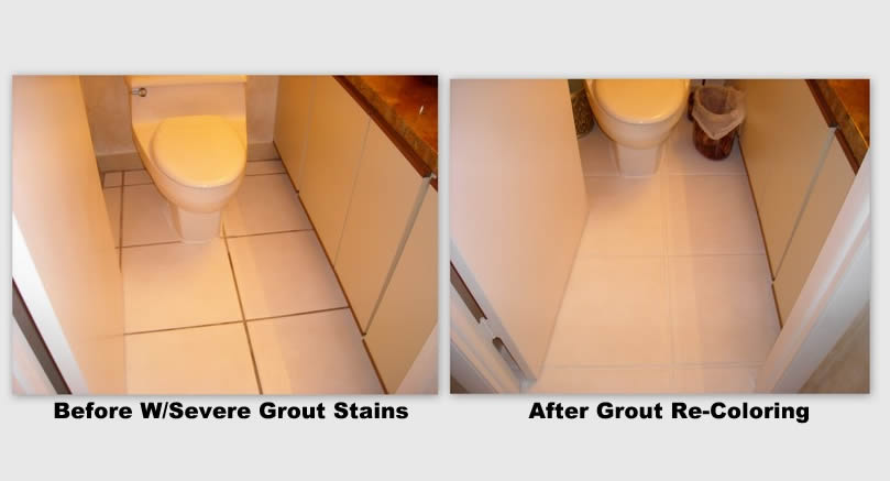 bathroom tile before and after